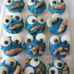 3. Cookie Monster Cupcakes