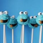 4. Cookie Monster cake pops