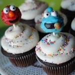 5. Cookie Monster cake pop in cupcake