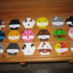 Perler bead Zhu Zhu faces