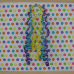 Polka dot paper to wrap artwork