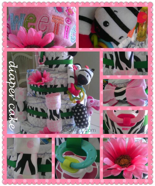 Diaper Cake collage