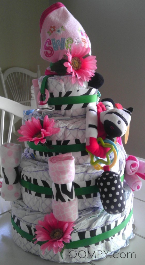 Jungle Flower diaper cake