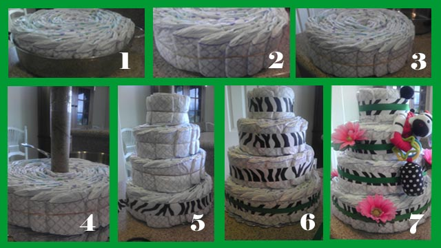 Diaper Cake assembly