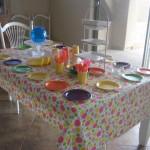 Muti-colored round plates