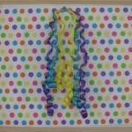 Polka dot paper to wrap artwork