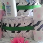Jungle Flower Diaper Cake_close